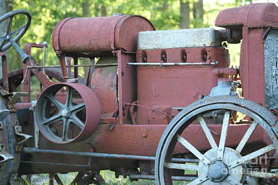 Side Of Mccormic Deering Tractor   # Art Print by Rob Luzier