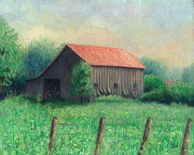 Art Print featuring the painting Side Of The Road by Joe Winkler