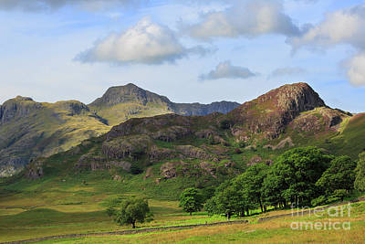 Side Pike And The Langdale Pikes In The Lake District Art Print by Louise Heusinkveld