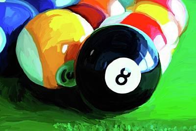 Billiards Painting - Side Pocket by Patti Siehien