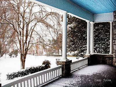 Photograph - Side Porch by Randy Sylvia
