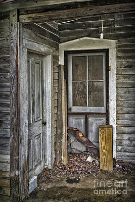 Photograph - Side Porch Doors by Walt Foegelle
