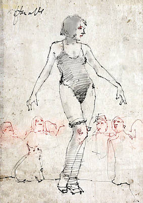 Side Show Art Print by H James Hoff
