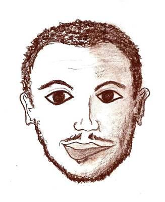 Drawing - Side Smile by Matt Harang