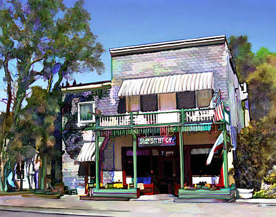 Photograph - Side Street Cafe Los Olivos Ca by Kurt Van Wagner