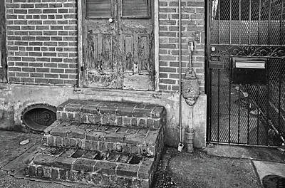 Photograph - Side Street Entrances - French Quarter - New Orleans - B/w by Greg Jackson