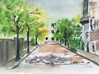 Painting - Side Street In Charleston by Frank Bright