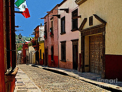Portal Photograph - Side Street by Mexicolors Art Photography