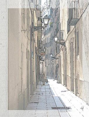 Digital Art - Side Street by Victoria Harrington