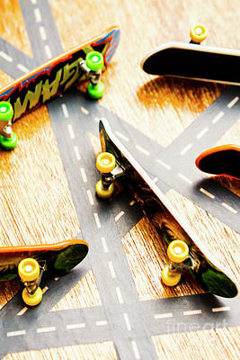 Side Streets Of Skate Art Print by Jorgo Photography - Wall Art Gallery