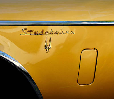 Photograph - Side View Of An Old Studabaker Automobile by Gary Slawsky