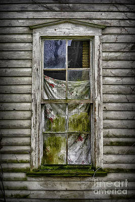 Photograph - Side Window With Colorful Curtain by Walt Foegelle