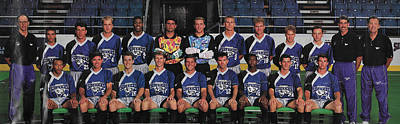 Mixed Media - 1993 Dallas Sidekicks Professional Indoor Soccer Team Champions In The C.i.s.l..league. by Nicholas Nixo