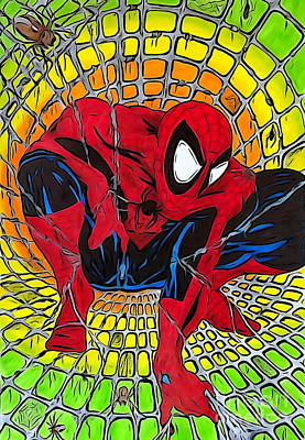 Hand Crafted Drawing - Spider-man Illustration Edition by Justin Moore