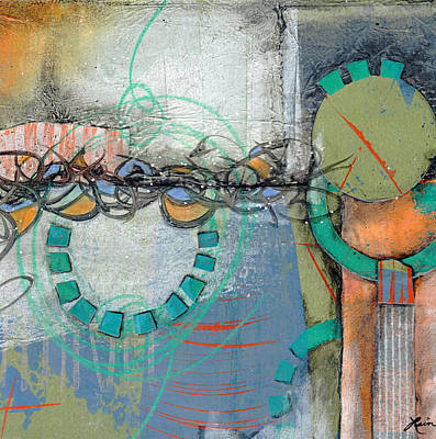Circle Mixed Media - Sidetracked by Laura  Lein-Svencner