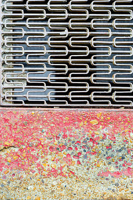 Grate Photograph - Sidewalk And Grate by KM Corcoran