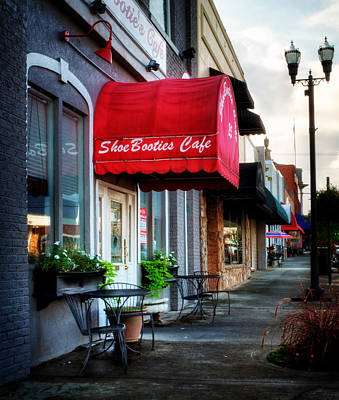 Photograph - Sidewalk At Shoebooties Cafe by Greg Mimbs