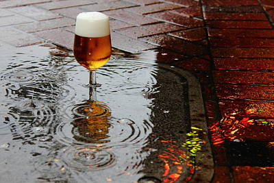 Photograph - Sidewalk Beer by Larry Beat