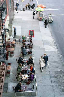 Photograph - Sidewalk Cafe by Alan Raasch