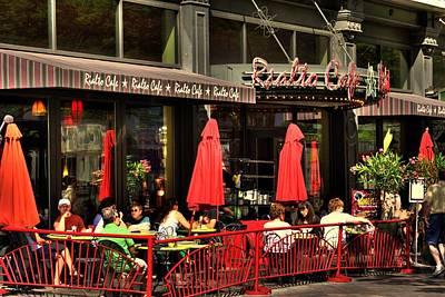 Sidewalk Cafe Art Print by Laurie Prentice