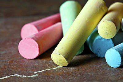 Colorful Photograph - Sidewalk Chalk I by Tom Mc Nemar