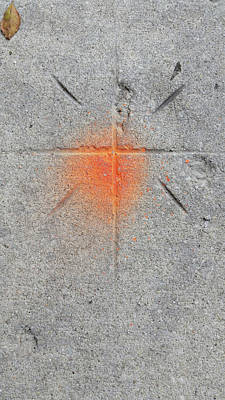 Photograph - Sidewalk Cross by Zac AlleyWalker Lowing