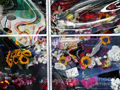Photograph - Sidewalk Florist Display 1 by Sarah Loft
