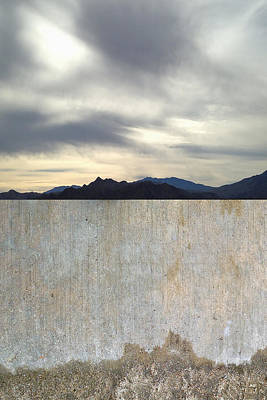Photograph - Sidewalk Runoff And A Mountain View by Stan Magnan