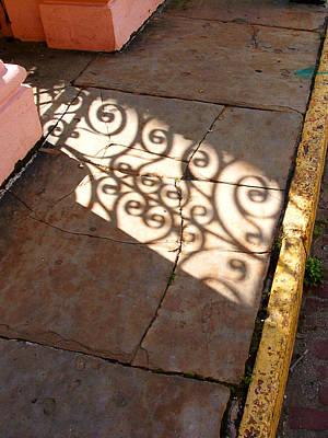 Sidewalk Shadow Art Print