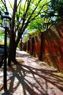 Photograph - Sidewalk Shadows by Linda Mesibov