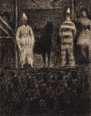 Drawing - Sidewalk Show by Georges-Pierre Seurat