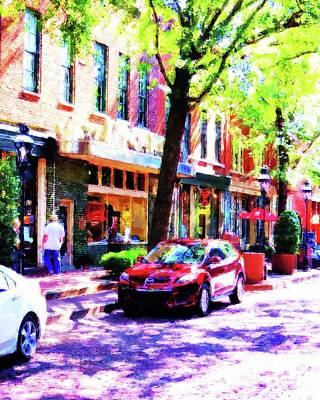 Edward Hopper - Sidewalk Stroll V I I I by Desiree Paquette