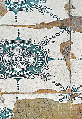 Photograph - Sidewalk Tiles by Ethna Gillespie