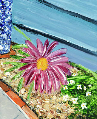 Painting - Sidewalk View by Vicki VanDeBerghe
