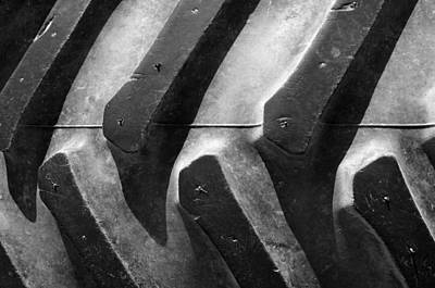 Sideways Tractor Tread Art Print by Luke Moore