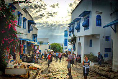 Sidi Bou Said Sunset Art Print by Aleksey Napolskih