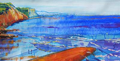 Drawing - Sidmouth Seaside Painting by Mike Jory