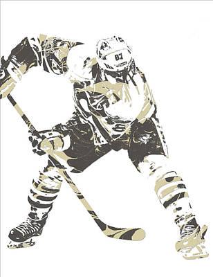 Sidney Crosby Pittsburgh Penguins Pixel Art 10 Art Print