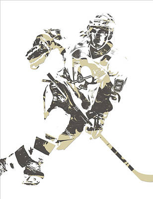 Penguin Mixed Media - Sidney Crosby Pittsburgh Penguins Pixel Art 11 by Joe Hamilton