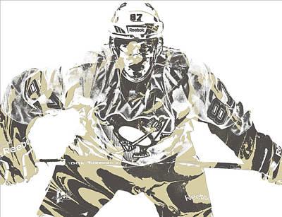 Sidney Crosby Pittsburgh Penguins Pixel Art 12 Art Print