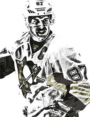 Hockey Mixed Media - Sidney Crosby Pittsburgh Penguins Pixel Art 4 by Joe Hamilton