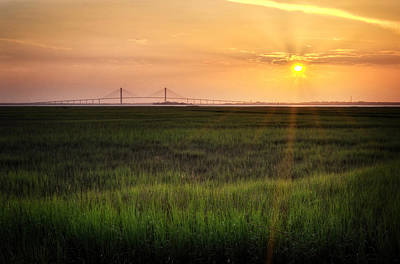 Yellow Photograph - Sidney Lanier At Sunset by Greg Mimbs