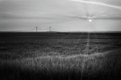 Jekyll Island Photograph - Sidney Lanier At Sunset In Black And White by Greg Mimbs