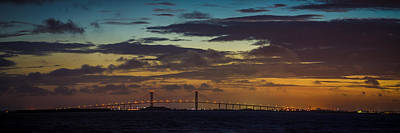 Photograph - Sidney Lanier Bridge Twilight by Chris Bordeleau