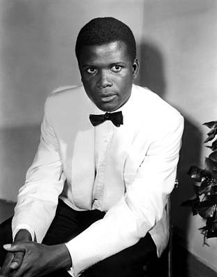Behind The Scenes Photograph - Sidney Poitier, On The Set For The Film by Everett