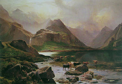 Percy Painting - Sidney Richard Percy Loch Coruisk by MotionAge Designs