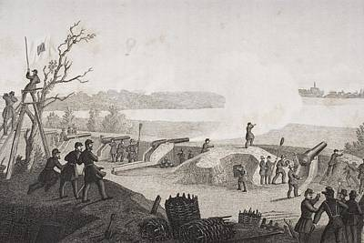 Siege Of Yorktown Virginia 1862. Drawn Art Print