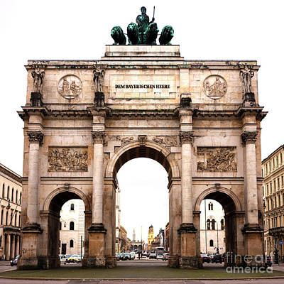 Photograph - Siegestor by John Rizzuto