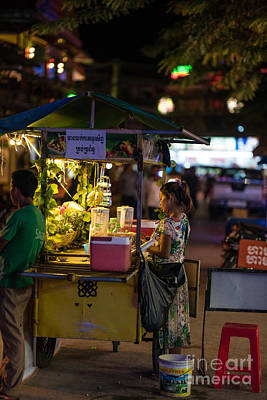 Street Vendors Photograph - Siem Reap Fruit Stand by Mike Reid