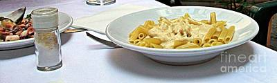 Photograph - Siena-3-pasta With Four Cheeses by Rezzan Erguvan-Onal
